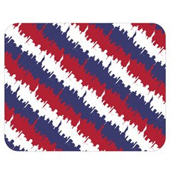 Ny Usa Candy Cane Skyline In Red White & Blue Double Sided Flano Blanket (medium)  by PodArtist
