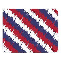 Ny Usa Candy Cane Skyline In Red White & Blue Double Sided Flano Blanket (large)  by PodArtist