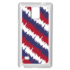 Ny Usa Candy Cane Skyline In Red White & Blue Samsung Galaxy Note 4 Case (white) by PodArtist