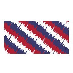 Ny Usa Candy Cane Skyline In Red White & Blue Satin Wrap by PodArtist