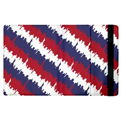Ny Usa Candy Cane Skyline In Red White & Blue Apple Ipad Pro 9 7   Flip Case by PodArtist