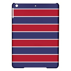 Large Red White And Blue Usa Memorial Day Holiday Horizontal Cabana Stripes Ipad Air Hardshell Cases by PodArtist