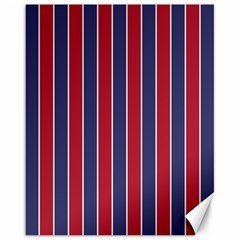 Large Red White And Blue Usa Memorial Day Holiday Pinstripe Canvas 16  X 20   by PodArtist