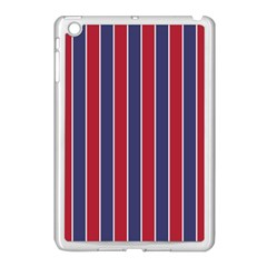 Large Red White And Blue Usa Memorial Day Holiday Pinstripe Apple Ipad Mini Case (white) by PodArtist