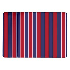 Large Red White And Blue Usa Memorial Day Holiday Pinstripe Samsung Galaxy Tab 10 1  P7500 Flip Case by PodArtist