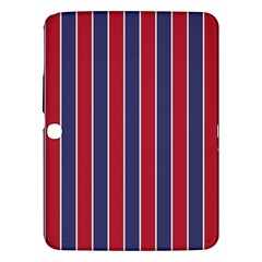 Large Red White And Blue Usa Memorial Day Holiday Pinstripe Samsung Galaxy Tab 3 (10 1 ) P5200 Hardshell Case  by PodArtist