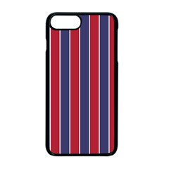 Large Red White And Blue Usa Memorial Day Holiday Pinstripe Apple Iphone 7 Plus Seamless Case (black)
