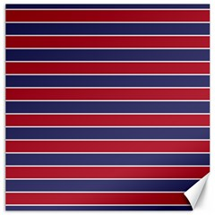 Large Red White And Blue Usa Memorial Day Holiday Pinstripe Canvas 20  X 20