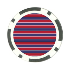 Large Red White And Blue Usa Memorial Day Holiday Pinstripe Poker Chip Card Guard (10 Pack) by PodArtist