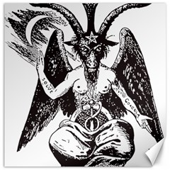 Devil Baphomet Occultism Canvas 20  X 20
