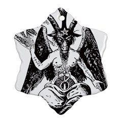 Devil Baphomet Occultism Snowflake Ornament (two Sides)
