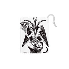 Devil Baphomet Occultism Drawstring Pouches (xs)  by Sapixe