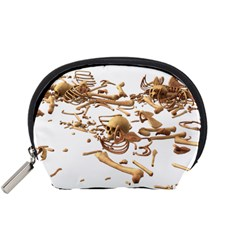 Skull Bone Skeleton Bones Accessory Pouches (small)  by Sapixe