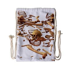 Skull Bone Skeleton Bones Drawstring Bag (small)