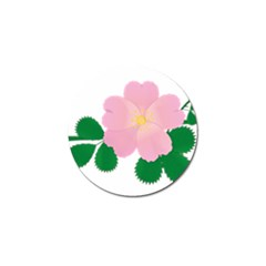 Rose Flower Briar Pink Flowers Golf Ball Marker