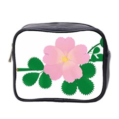 Rose Flower Briar Pink Flowers Mini Toiletries Bag 2 Side by Sapixe