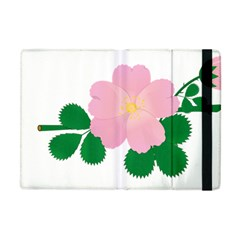 Rose Flower Briar Pink Flowers Apple Ipad Mini Flip Case by Sapixe