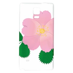 Rose Flower Briar Pink Flowers Galaxy Note 4 Back Case by Sapixe
