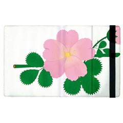 Rose Flower Briar Pink Flowers Apple Ipad Pro 9 7   Flip Case by Sapixe