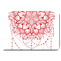 Mandala Pretty Design Pattern Large Doormat  by Sapixe