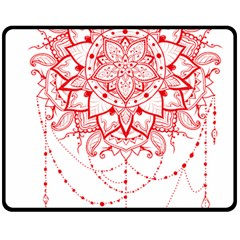 Mandala Pretty Design Pattern Double Sided Fleece Blanket (medium)