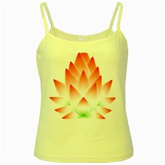 Lotus Flower Blossom Abstract Yellow Spaghetti Tank by Sapixe