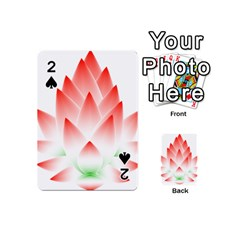 Lotus Flower Blossom Abstract Playing Cards 54 (mini)  by Sapixe