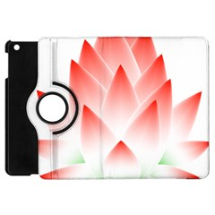 Lotus Flower Blossom Abstract Apple Ipad Mini Flip 360 Case by Sapixe