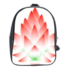 Lotus Flower Blossom Abstract School Bag (xl) by Sapixe