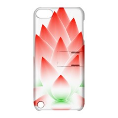 Lotus Flower Blossom Abstract Apple Ipod Touch 5 Hardshell Case With Stand by Sapixe