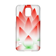 Lotus Flower Blossom Abstract Samsung Galaxy S5 Hardshell Case  by Sapixe