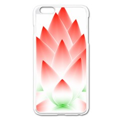 Lotus Flower Blossom Abstract Apple Iphone 6 Plus/6s Plus Enamel White Case by Sapixe