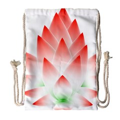 Lotus Flower Blossom Abstract Drawstring Bag (large) by Sapixe