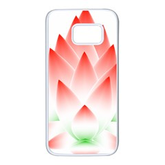 Lotus Flower Blossom Abstract Samsung Galaxy S7 White Seamless Case