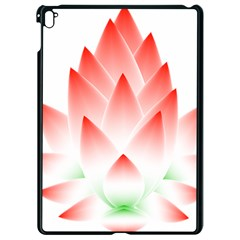 Lotus Flower Blossom Abstract Apple Ipad Pro 9 7   Black Seamless Case