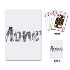 Word Money Million Dollar Playing Card by Sapixe