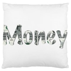 Word Money Million Dollar Large Flano Cushion Case (two Sides) by Sapixe