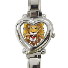 Lion Animal Roar Lion S Mane Comic Heart Italian Charm Watch by Sapixe