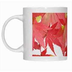 Leaves Maple Branch Autumn Fall White Mugs