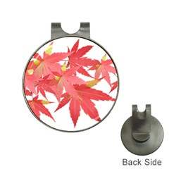 Leaves Maple Branch Autumn Fall Hat Clips With Golf Markers by Sapixe