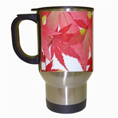 Leaves Maple Branch Autumn Fall Travel Mugs (white) by Sapixe