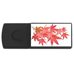 Leaves Maple Branch Autumn Fall Rectangular Usb Flash Drive