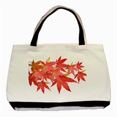 Leaves Maple Branch Autumn Fall Basic Tote Bag by Sapixe