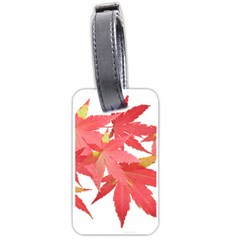 Leaves Maple Branch Autumn Fall Luggage Tags (two Sides) by Sapixe