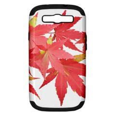 Leaves Maple Branch Autumn Fall Samsung Galaxy S Iii Hardshell Case (pc+silicone) by Sapixe