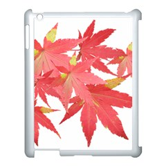Leaves Maple Branch Autumn Fall Apple Ipad 3/4 Case (white) by Sapixe