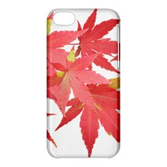 Leaves Maple Branch Autumn Fall Apple Iphone 5c Hardshell Case by Sapixe