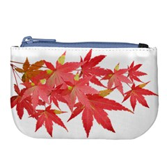 Leaves Maple Branch Autumn Fall Large Coin Purse by Sapixe