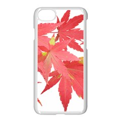 Leaves Maple Branch Autumn Fall Apple Iphone 7 Seamless Case (white) by Sapixe