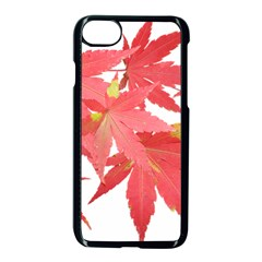 Leaves Maple Branch Autumn Fall Apple Iphone 8 Seamless Case (black) by Sapixe